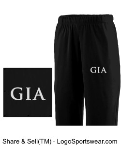 Men's Fleece Sweatpant - Black (Embroidered) Design Zoom